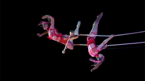 To hire an aerialist, aerial acrobatics show, or team of aerialists available for your next event