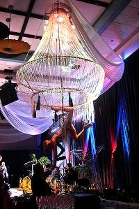hire chandelier aerial bartenders