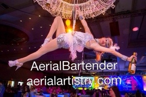 Las Vegas Corporate event Entertainment-Aerial Bartenders-Talent Agency