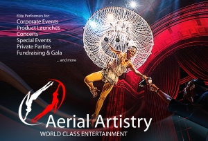 Aerial Bartender or Champagne Pouring Aerialist in LA