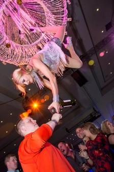 champagne aerial server