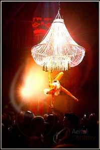 Aerial Bartenders or 'Champagne Chandeliers