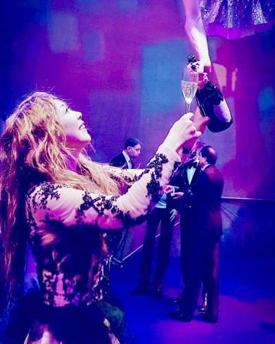 Aerial Champagne Servers -Aerial Artistry